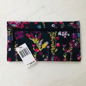 Vera Bradley Pencil Pouch NWT Midnight Wildflowers